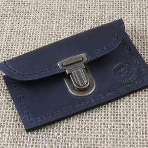 portfelik na karty zamykany zatrzask, karty, portfelik, portfel, etui, skóra