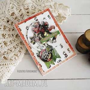 kartka świąteczna 516 - zielone scrapbooking kartki, boże narodzenie