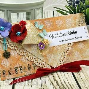 kopertówka śluna- późne lato - kartka, kopertówka, ślub, wesele