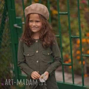 Green Moss, sukienka, vintage, dziewczynka, sztruks, retro, bawełna