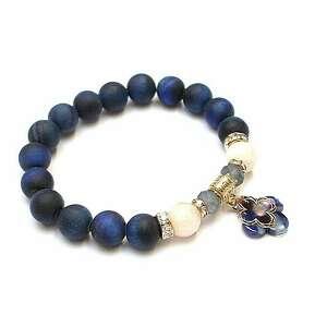 navy blue and ecru /02-10-20/, kamienie, minerały, żywica, ki ka, koniczynka