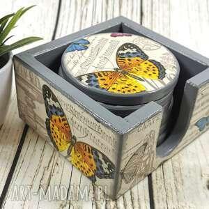 Podkładki pod kubki - motyle shiraja motyle, podstawki