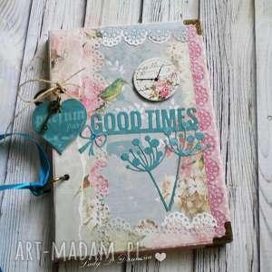 Prezent Stylowy notes/good times, notes, pamiętnik, życzenia, urodziny, prezent
