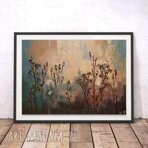 ABSTRAKCYJNA ŁĄKA II -obraz akrylowy formatu 20/30 cm, łąka, akryl, abstrakcja
