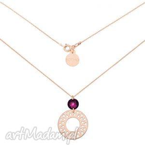 naszyjnik z różowego złota z dużą arabską rozetą