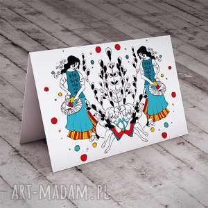 kartki wiosenny spacer karteczka wielkanocna, wielkanocne, życzenia, wiosenne