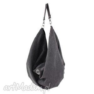 na ramię duża torba oversize voor tarka grafit, ogromna, duża, uniseks, prezent