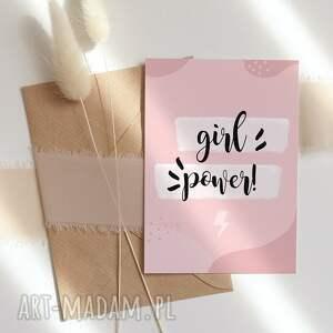 kartka okolicznościowa girl power cardie, okolicznościowa