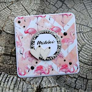 kartki miłość i flamingi, życzenia, ślub, urodziny, imieniny, egzotycznie