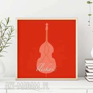 plakat a2 bliskość, bliskosc, muzyka, bass, gitara, dekoracja, autorski