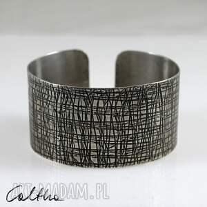 kora 2 - metalowa bransoletka, bransoleta, metalowa, szeroka, unisex