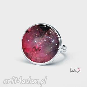 pierścionek kosmos, wszechśiat, księżyc, gwiazdy, konstelacje, planety, prezent