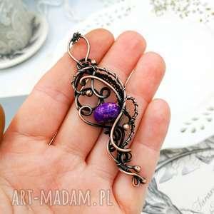 Purple elegance - naszyjnik z jaspisem cesarskim naszyjniki