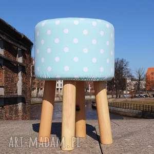 Pufa Miętowe Grochy 2 - 45 cm, puf, pufa, stołek, taboret, siedzisko,
