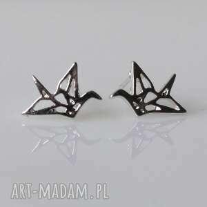 origami, geometryczne, delikatne, sztyfty, ptaki