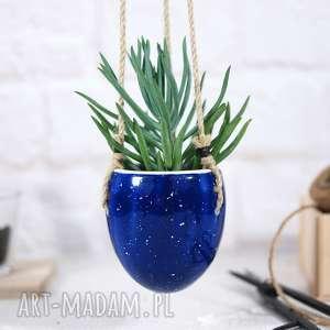 Wisząca doniczka ceramiczna do domu i ogrodu ceramika fingersart
