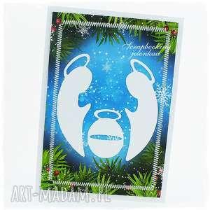 kartka bożonarodzeniowa - święta, boże narodzenie, szopka, stajenka