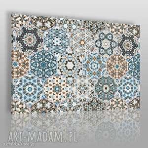 Obraz na płótnie - HEKSAGONY MAROKAŃSKI WZÓR 120x80 cm (55401), heksagony