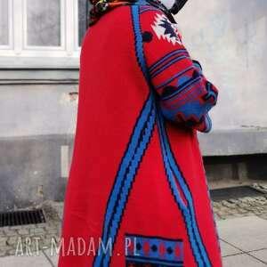 handmade kominy komin wiosenny patchworkowy etno boho na podszewce, kolorowy, polecam
