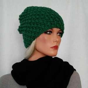 ręczne wykonanie czapki zielona ręcznie robiona czapka