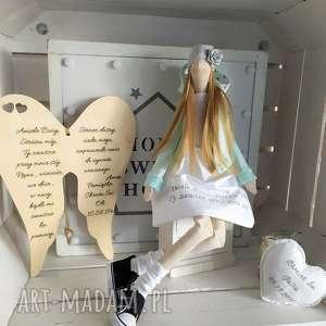 Anioł tilda lalka pamiątka chrztu świętego komunii lalki