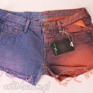 spodnie szorty ombre diy krótkie spodenki, szorty, krótkie, denim, jeans