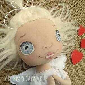 aniołek lalka - dekoracja tekstylna, ooak, aniołek, szmacianka