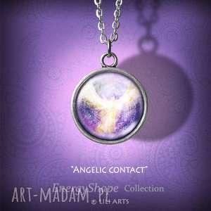 liliarts medalion, talizman - anielski kontakt prosty, naszyjnik, medalion