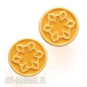 gałki do mebli żółte wz ii, mebli, uchwyty ornament