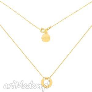 złoty naszyjnik z malutka pustą karmą - łańcuszek