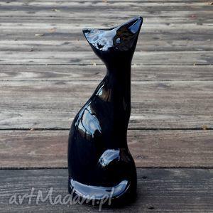 Ceramiczna figurka - KOT czarny, kot, kotek, figura, statuetka, ceramiczny