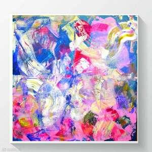 byferens obraz ręcznie malowany abstrakcja, kolorowa abstrakcja