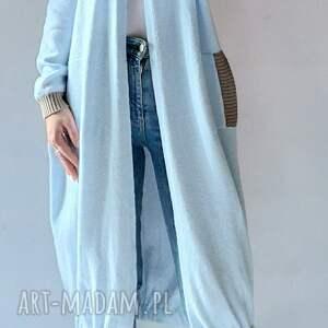 długa bomberka, sweter z kieszeniami, elegancki, długi sweter
