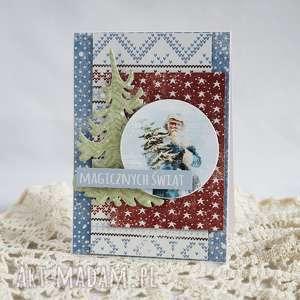 pomysł na świąteczny prezent Z Mikołajem, boże-narodzenie, kartka-świąteczna