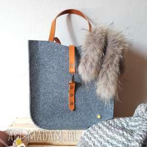 Prezent FeltBag #100, torba, filcowa, prezent, skora, torebka, klasyczna