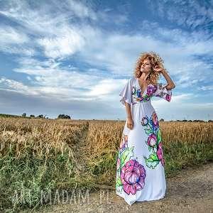 magdalena maxi flower - sukienka, suknia, ślubna, kwiaty