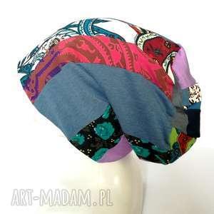 Ruda Klara? czapka szyta patchworkowa kolorowa wiosenna