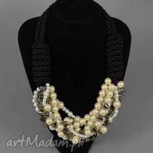 naszyjniki kolia naszyjnik mariah, kolia, naszyjnik, korale, perły, perełki