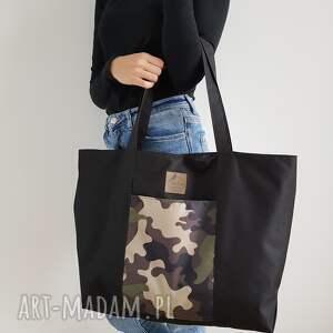 torba shopper - black moro, torba, shopper, szoperka, wodoodporna