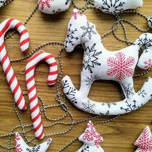 kuferek-malucha ozdoby świąteczne zestaw 16 sztuk - mikołajki