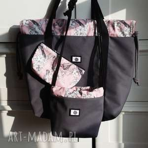 na ramię prezent magdalena różczka tashpack kwiaty pudrowy róż, torba
