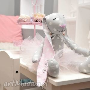 Króliczek baletnica, krolik, tilda, tancerka, chrzciny, urodziny