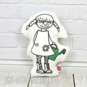 poduszka - dziewczynka z konewką, poduszka, poduszka dekoracyjna, pokoj dziecka