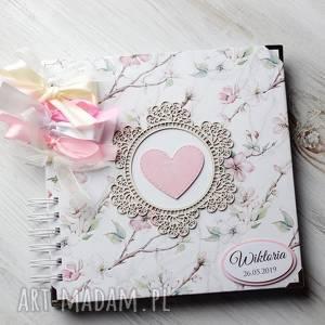 scrapbooking albumy album - pamiętnik, album, prezent, chrzest, ślub, roczek