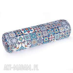 ręcznie zrobione poduszki bolster do jogi z łuską gryki - wałek portugalskie