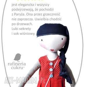 oryginalny prezent, rafineria cukru nina lalka z sercem, lalka, szmacianka, serce