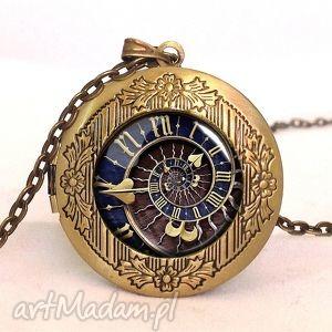 handmade naszyjniki steampunk - sekretnik z łańcuszkiem