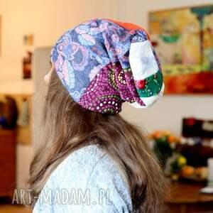 Prezent czapka wiosenna damska patchworkowa , wiosna, czapka, damska, mama, prezent