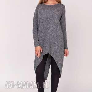 Tunika,,frak,długi sweter, długi, frak, tunika, asymetryczna, dzianina