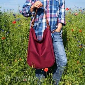 na ramię iks buraczek rudy, worek, torba, torebka, casual, boho, hobo, święta